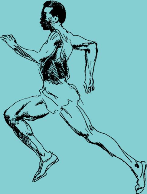 LeRoy Neiman runner sketch