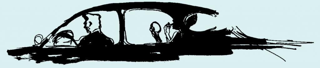 LeRoy Neiman car sketch