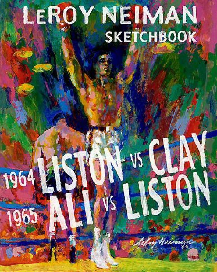 LeRoy Neiman Sketchbook: 1964 Liston vs. Clay, 1965 Ali vs. Liston book (Cover)