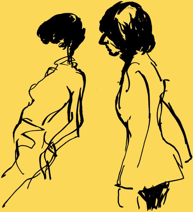 LeRoy Neiman women sketch