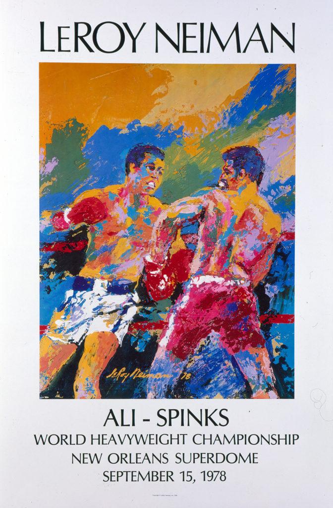 Ali vs. Spinks Boxing poster