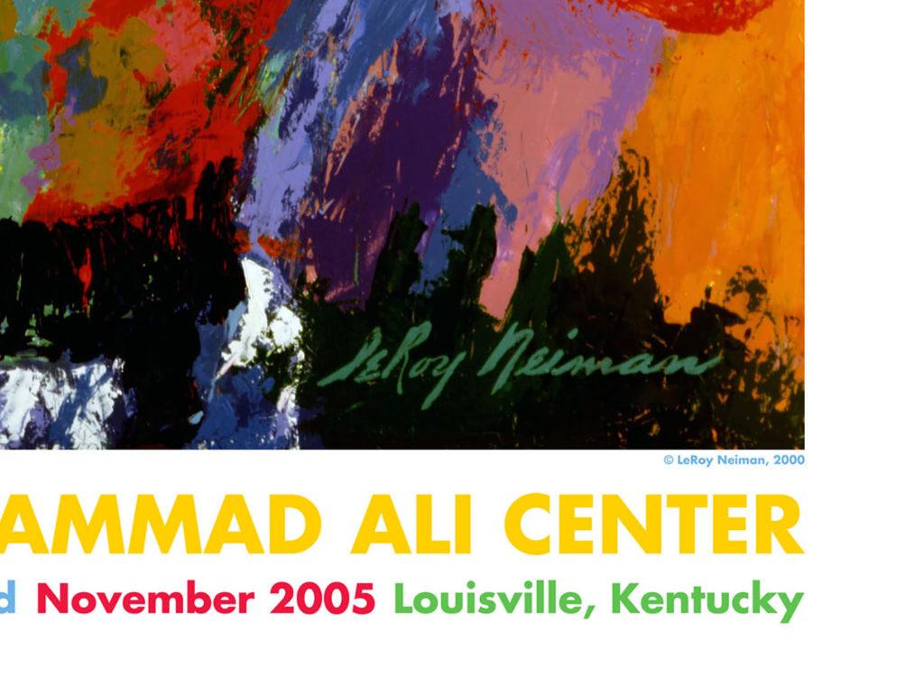 Muhammad Ali Center poster detail