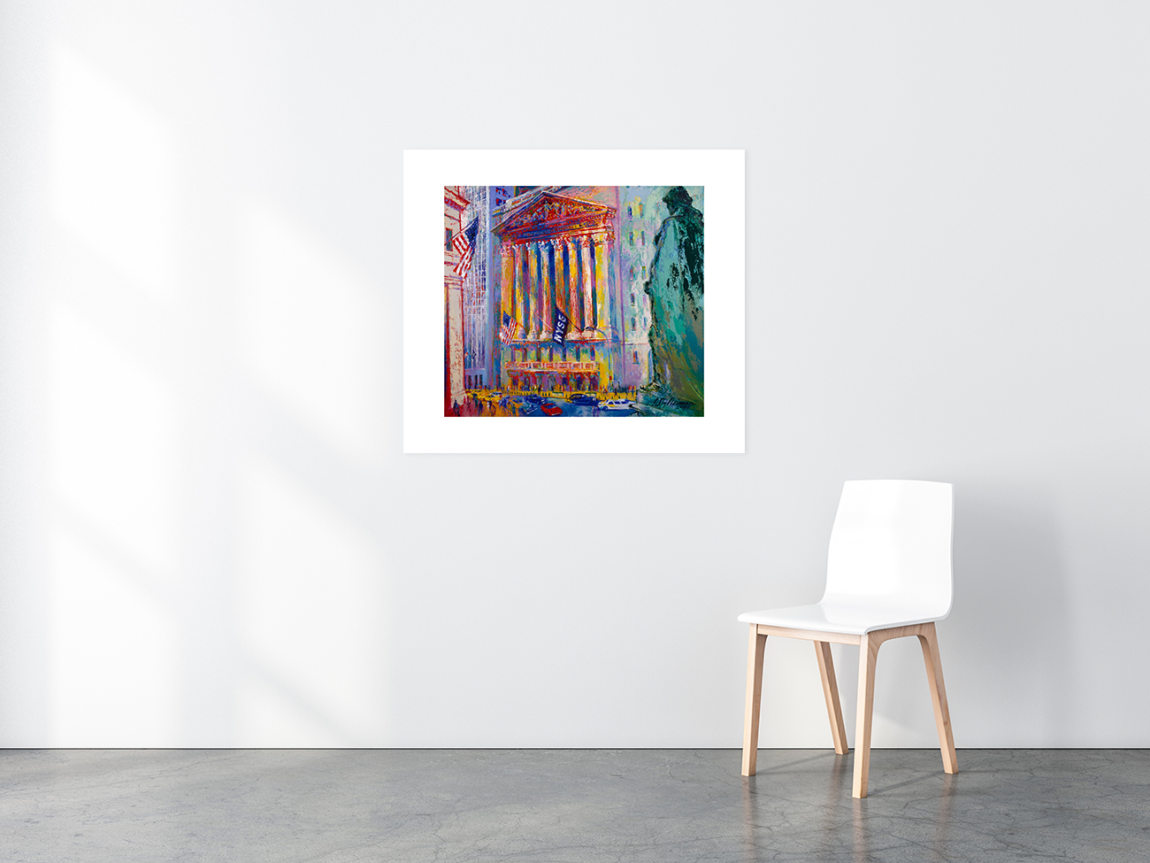 New York Stock Exchange print in situ