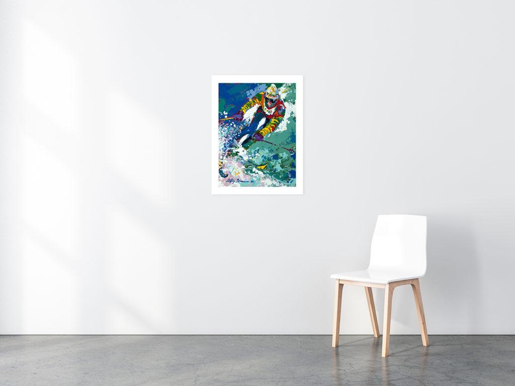 Slalom Skier print in situ