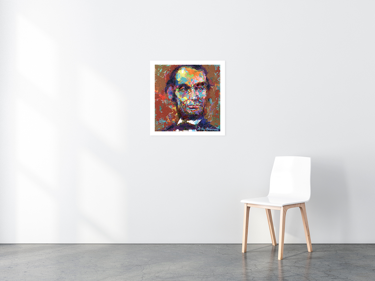 Abraham Lincoln poster in situ