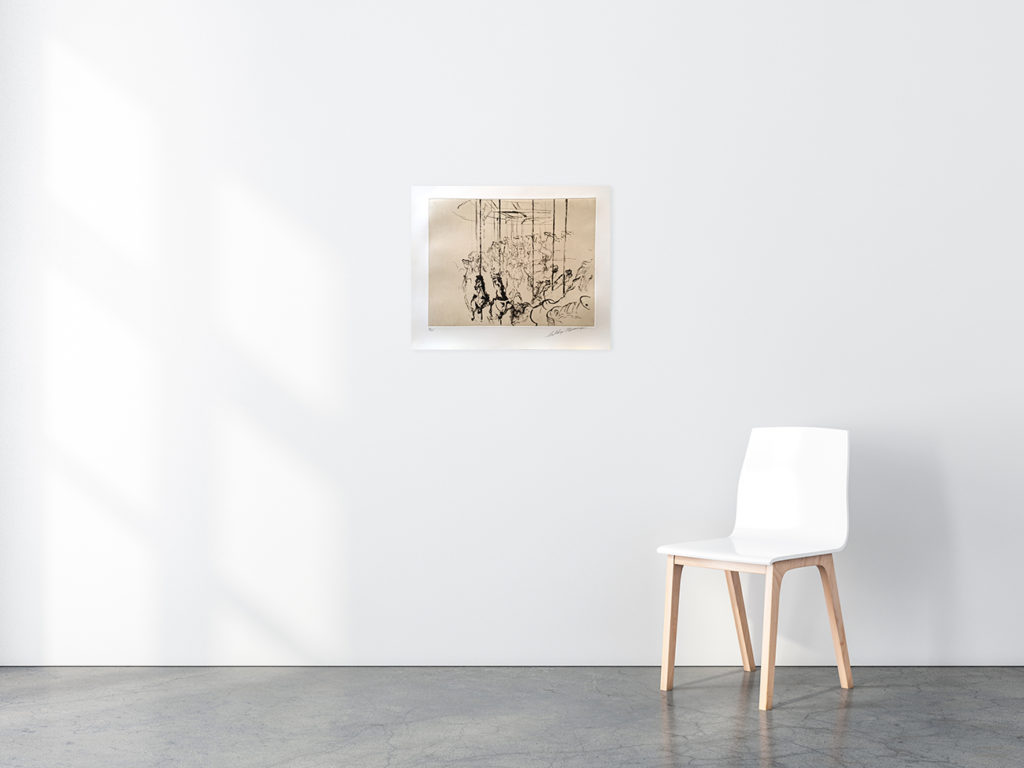 Carousel print in situ