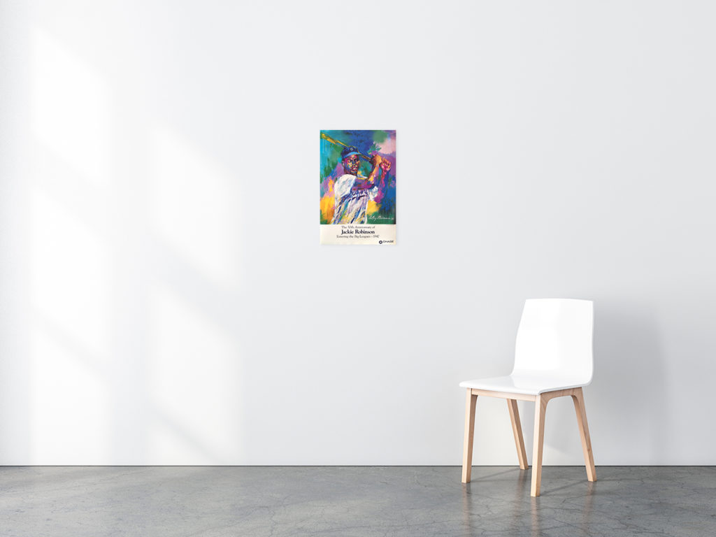 Jackie Robinson Baseball poster in situ