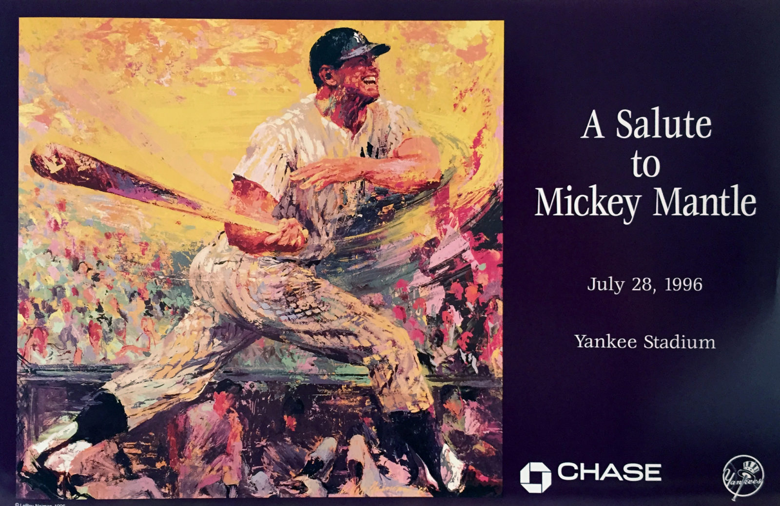 Salute to Mickey Mantle Baseball poster