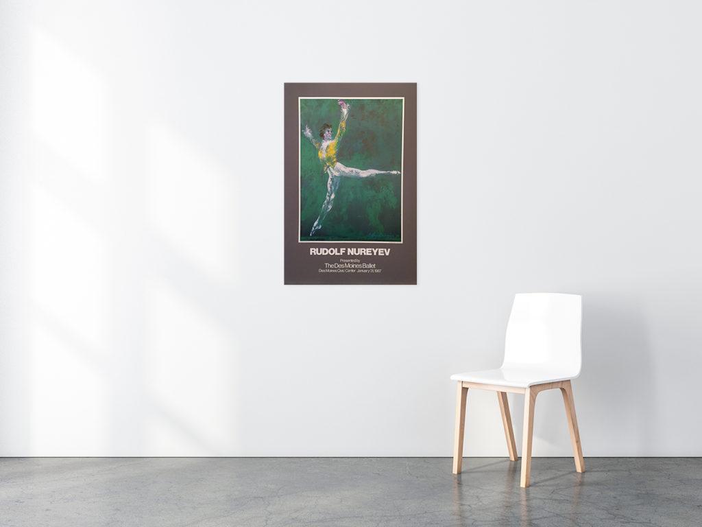 Rudolf Nureyev poster in situ