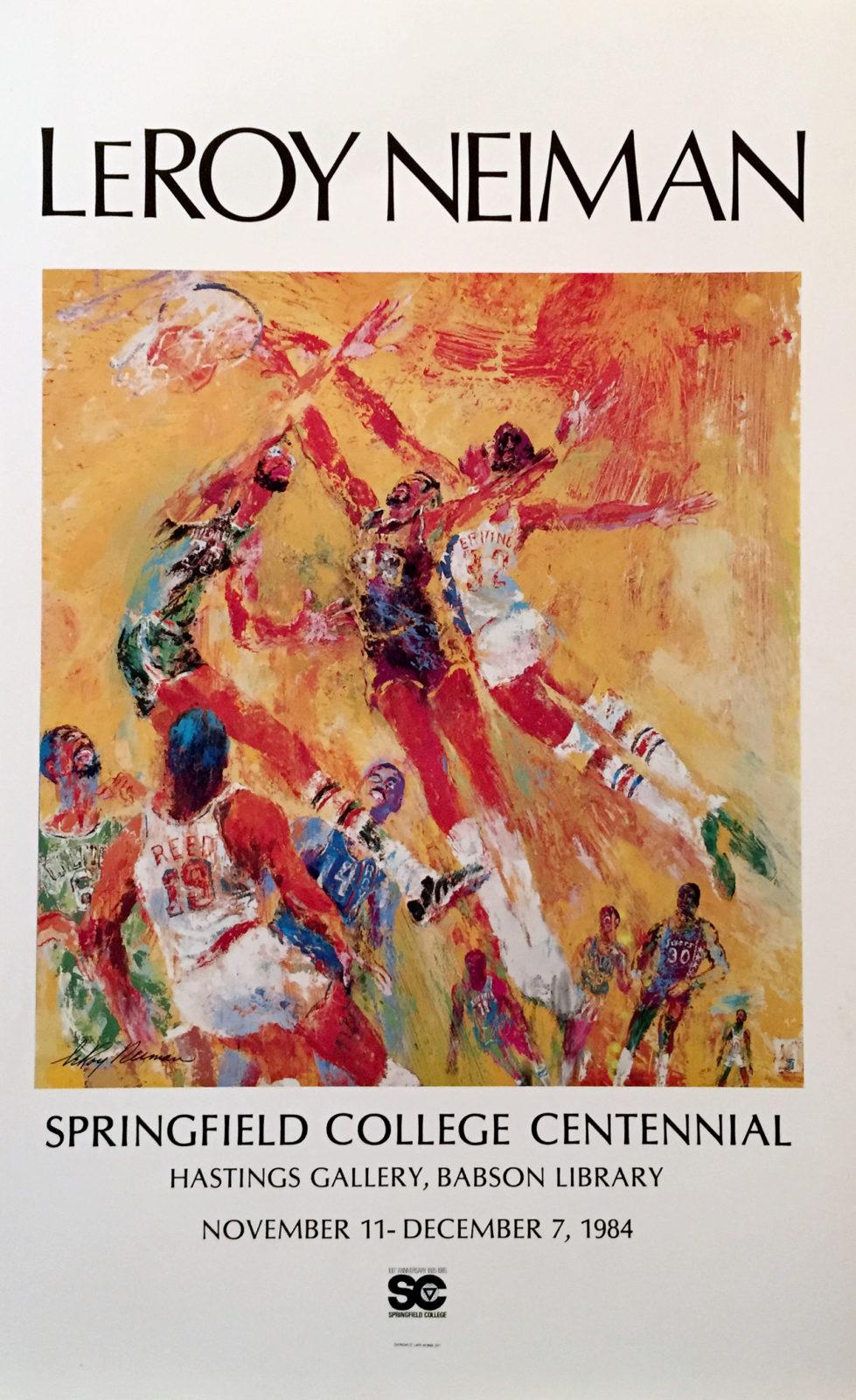 Springfield College Centennial Basketball poster
