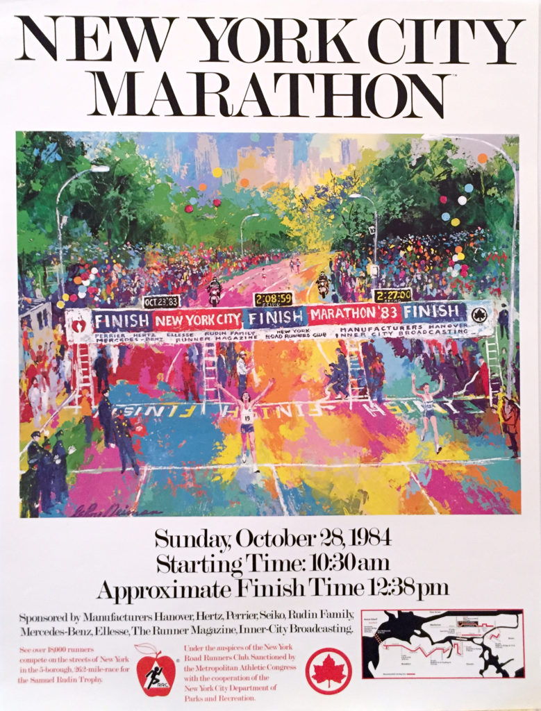 New York City Marathon 1984 poster