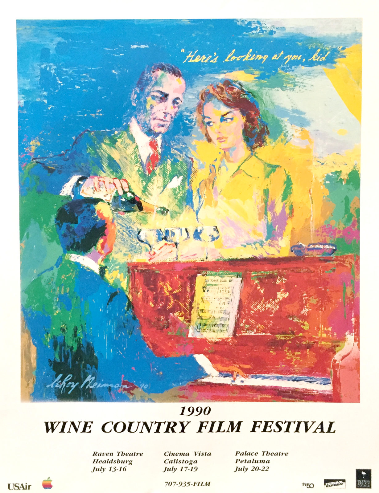 Wine Country Film Festival 1990 poster