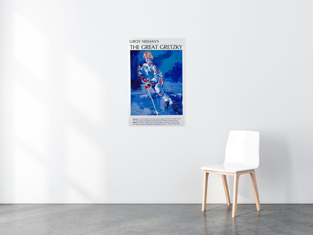 The Great Gretzky Hockey poster in situ