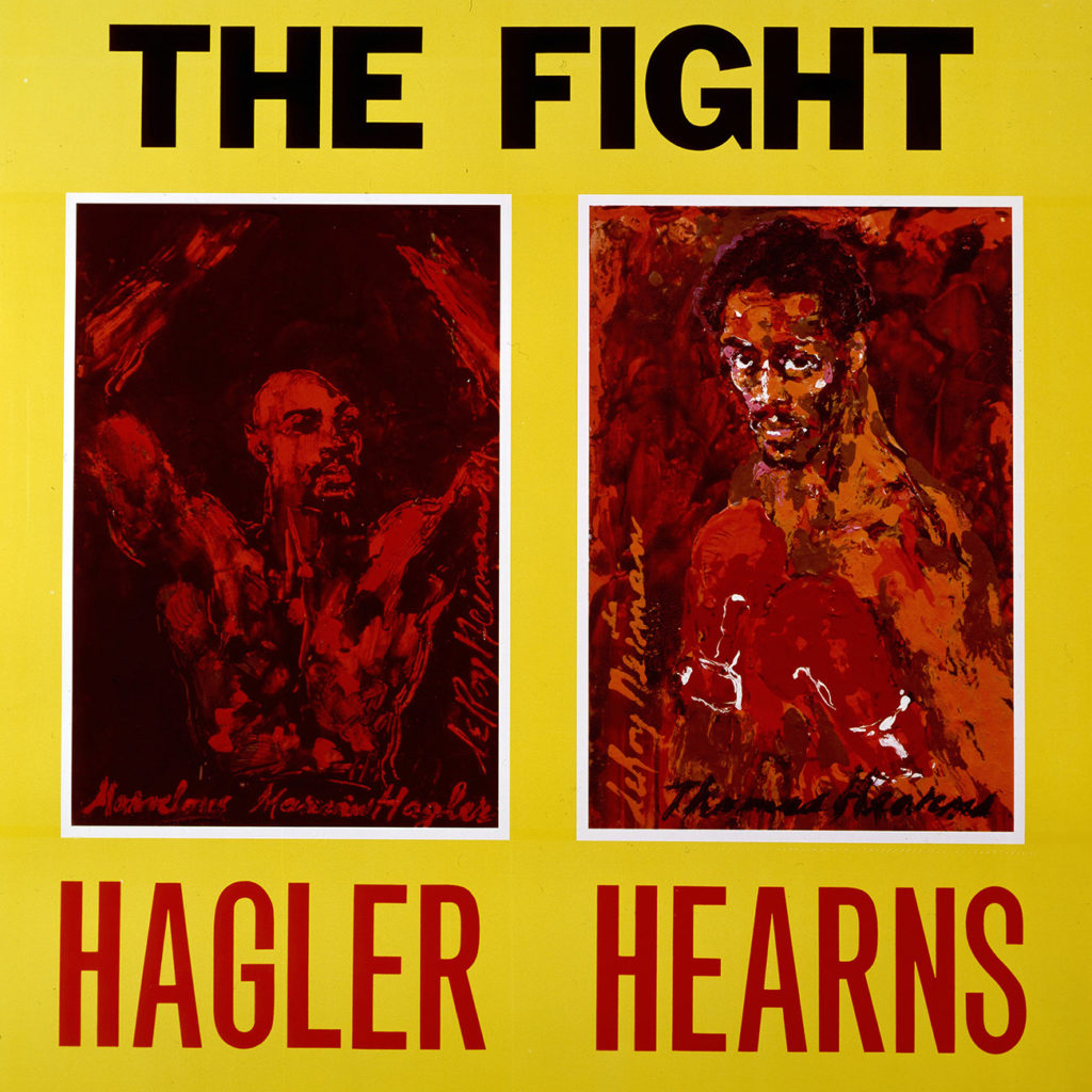 Hagler vs. Hearns Boxing poster