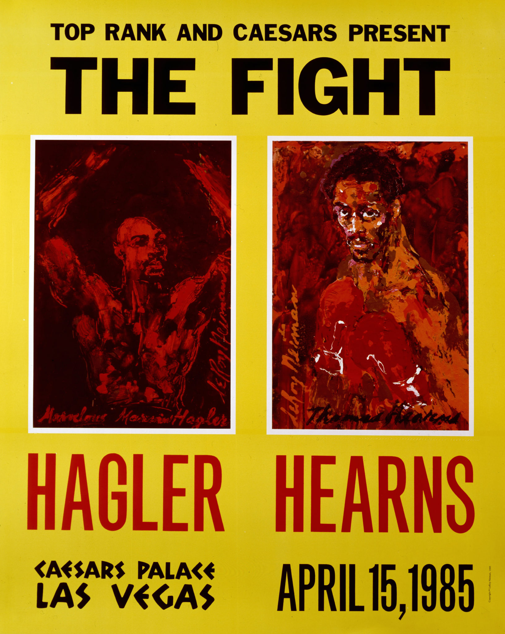 Hagler vs. Hearns 1985 Boxing poster