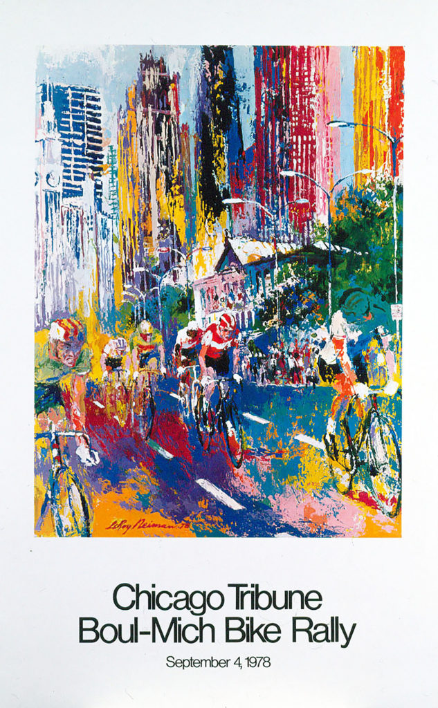 Chicago Tribune Boul-Mich Bike Rally poster