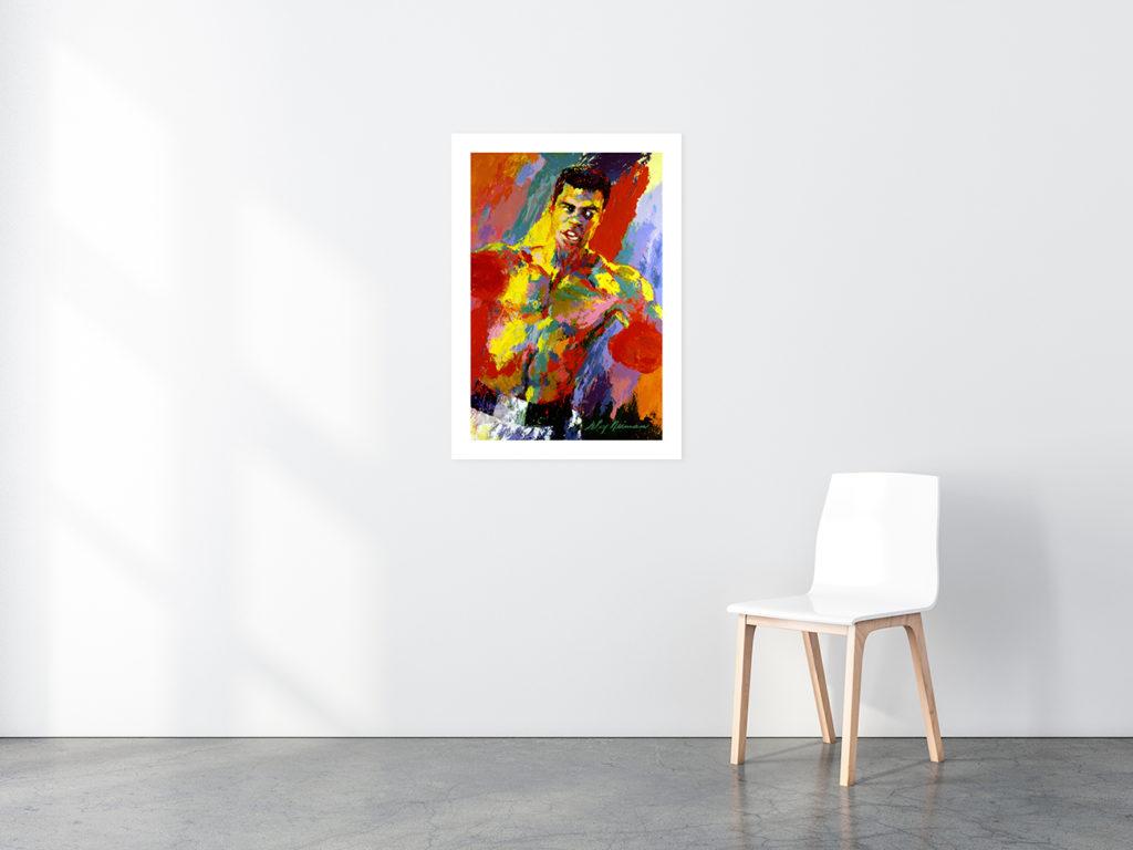 Muhammad Ali print in situ