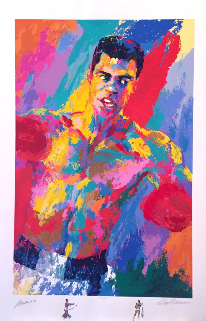 Muhammad Ali print signed by Muhammad Ali and LeRoy Neiman