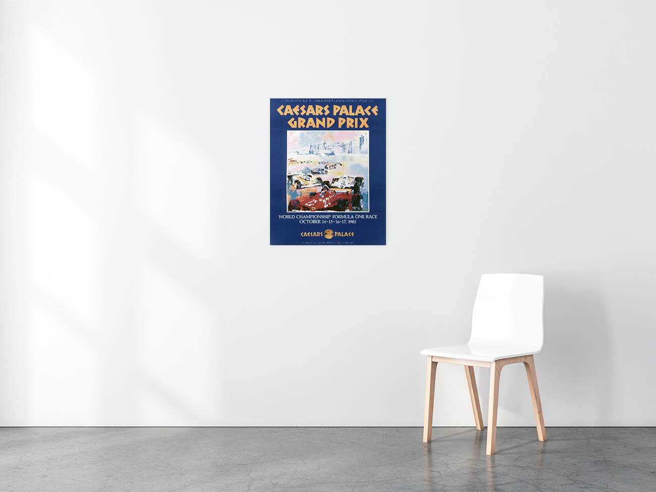 Cesar's Palace Grand Prix poster in situ