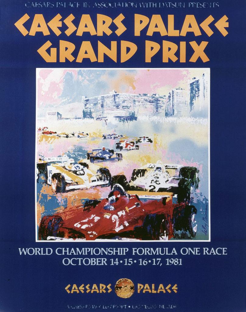 Caesars Palace Grand Prix 1981 poster