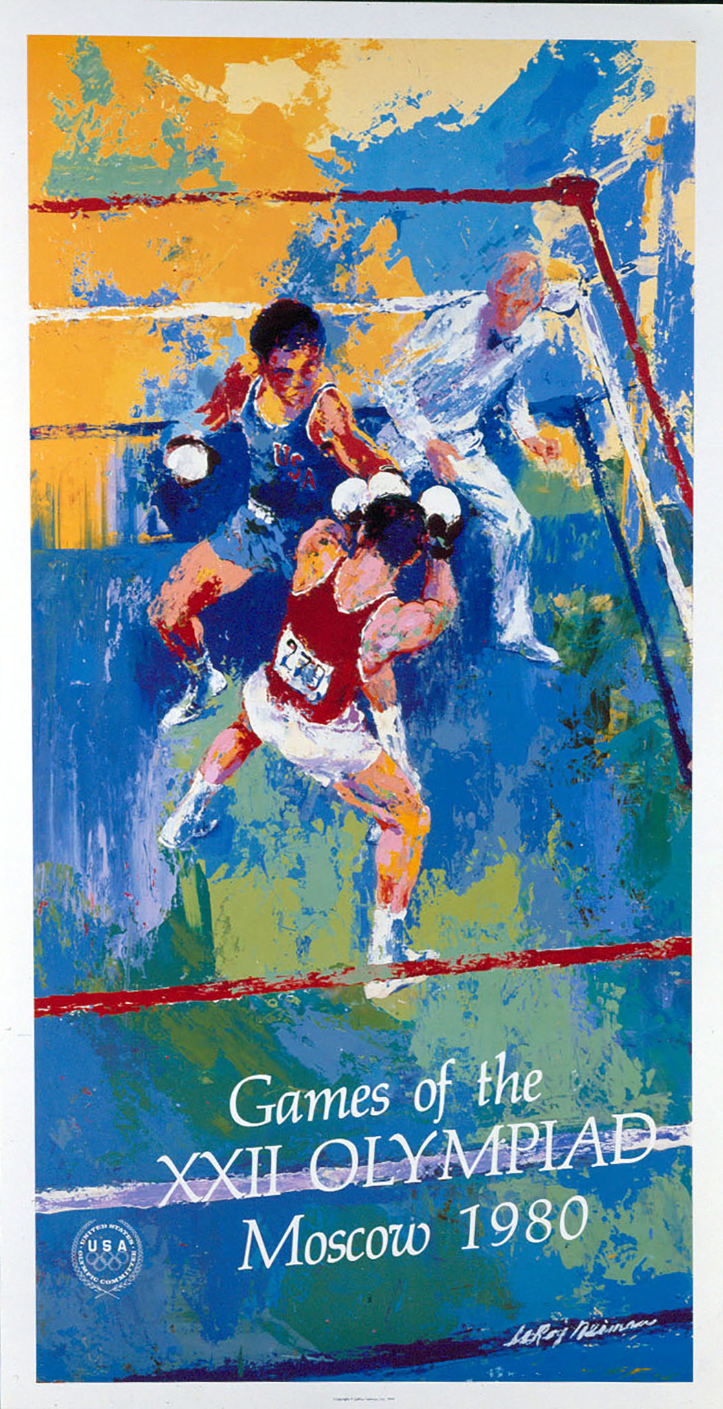 Games of the XXII Olympiad Moscow 1980 poster