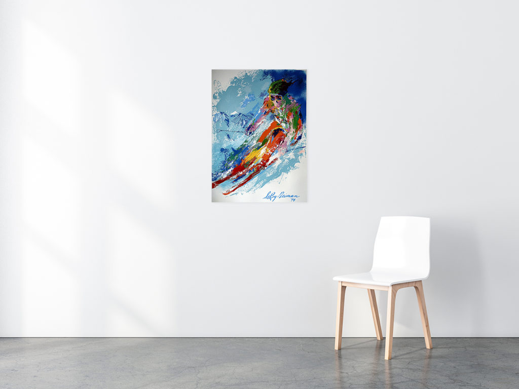 World Class Skier poster in situ