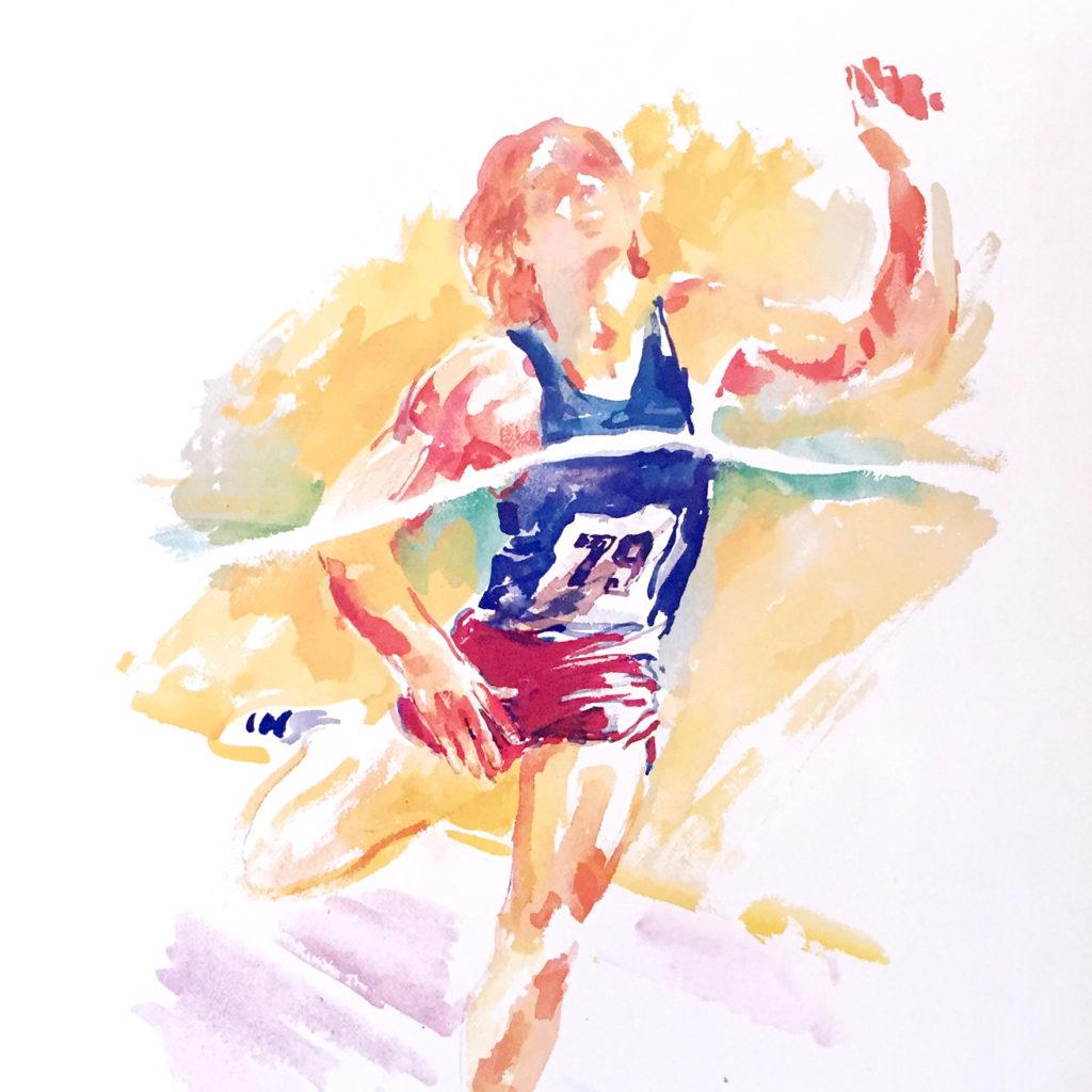 Drake Relays Track Runner poster
