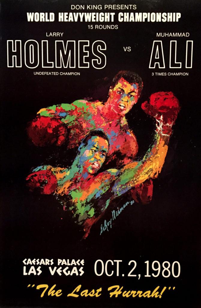 Holmes vs. Ali 1980 Boxing poster