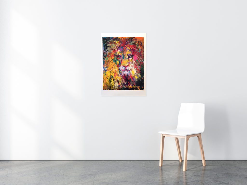 Portrait of a Lion poster in situ
