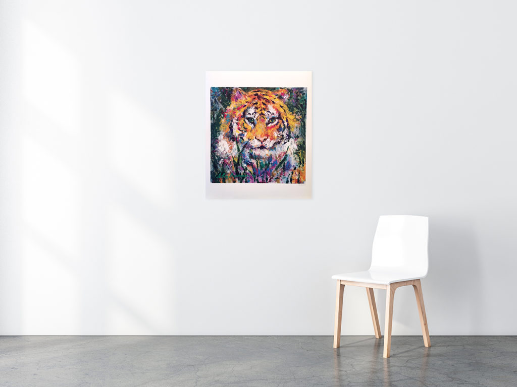 Portrait of a Tiger poster in situ