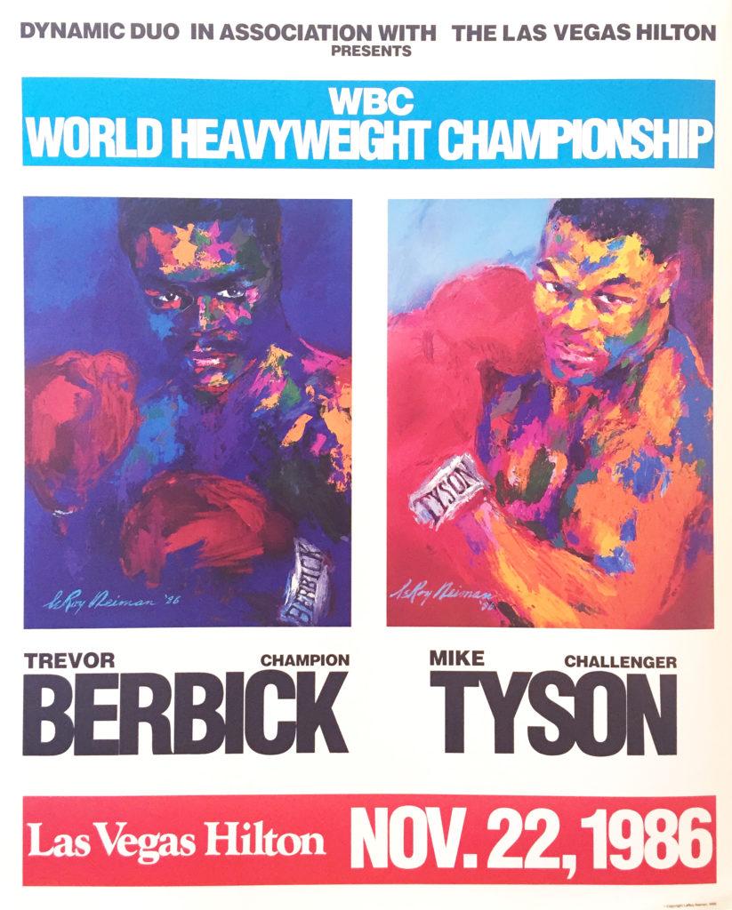 Berbick vs. Tyson 1986 Boxing poster