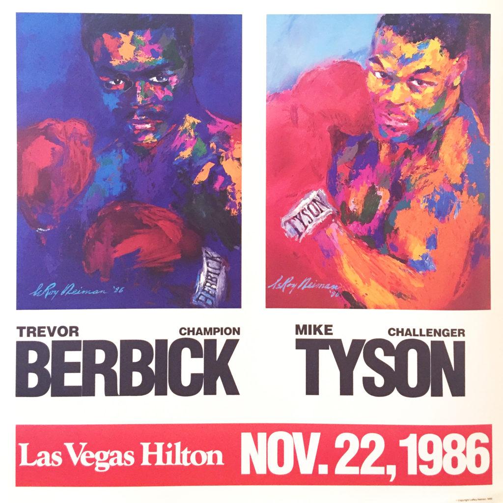 Berbick vs. Tyson Boxing poster