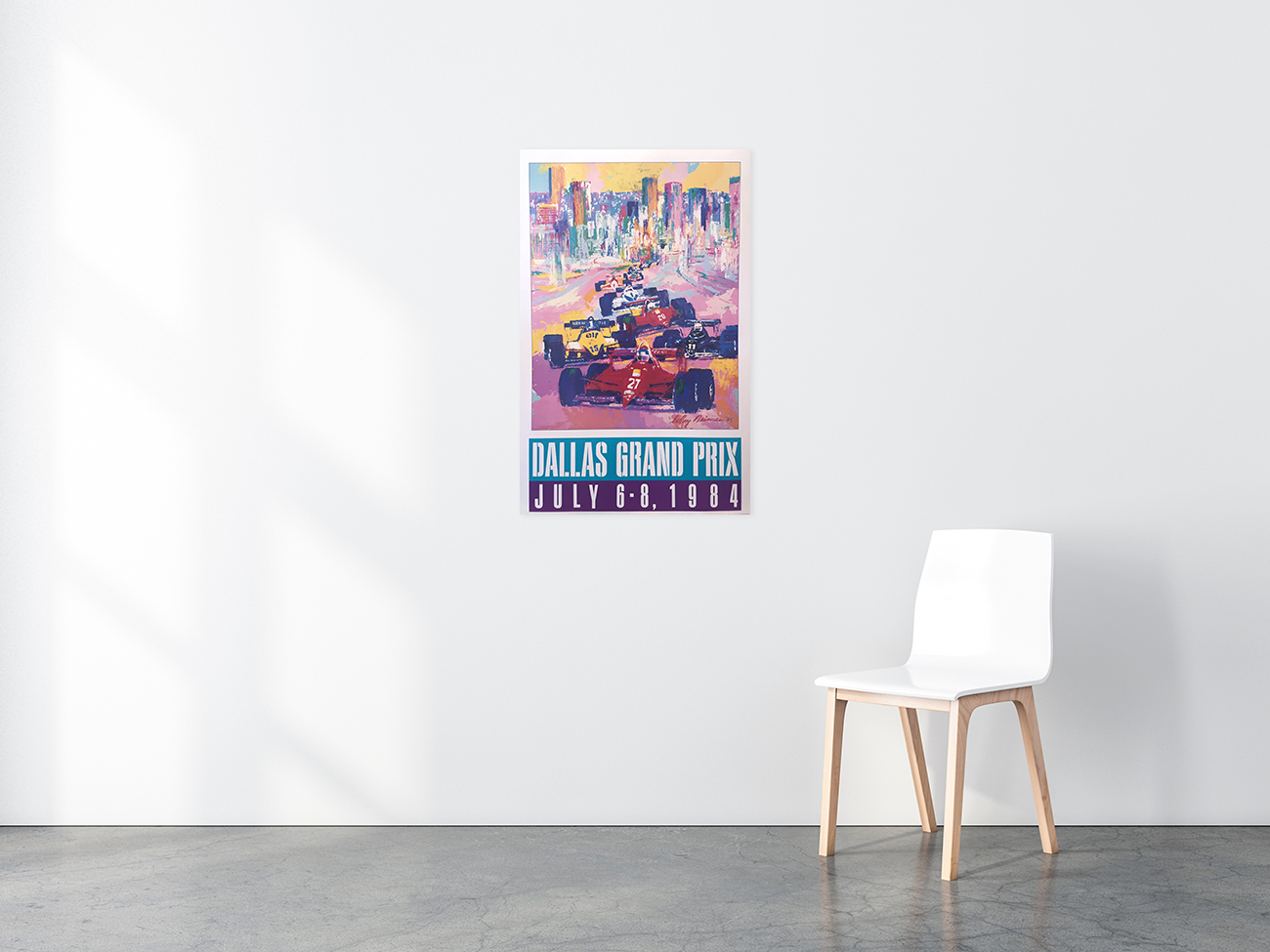 Dallas Grand Prix poster in situ