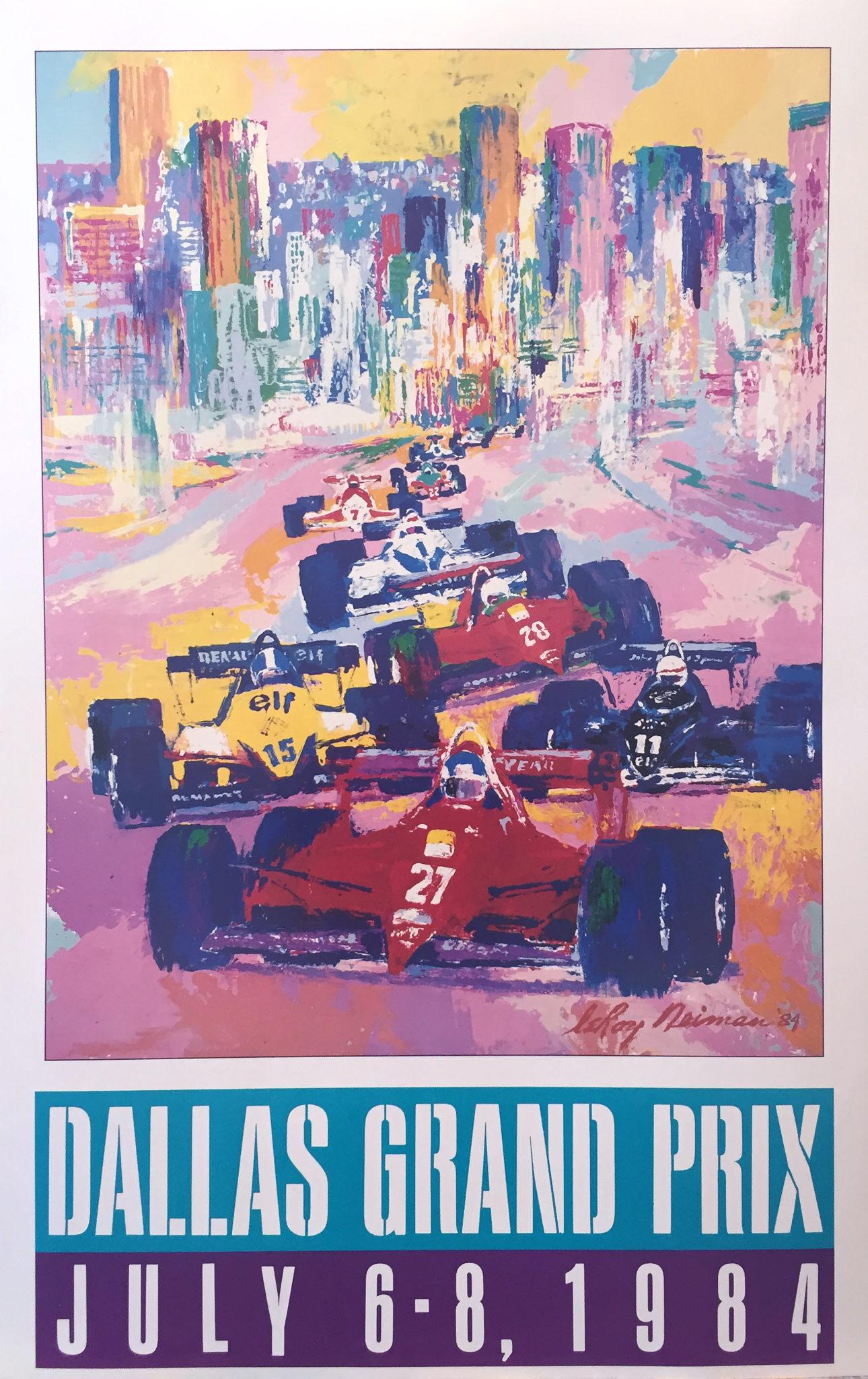 Dallas Grand Prix 1984 poster