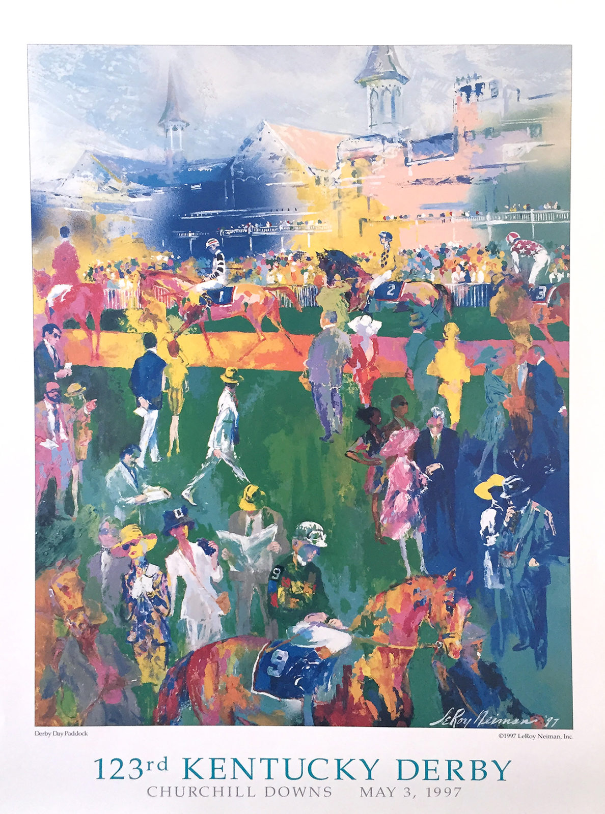 Derby Day Paddock poster