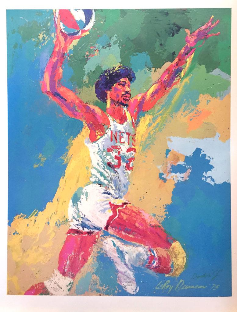 Dr. J (Julius Erving) Basketball poster