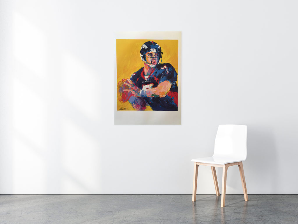 John Elway Football poster in situ