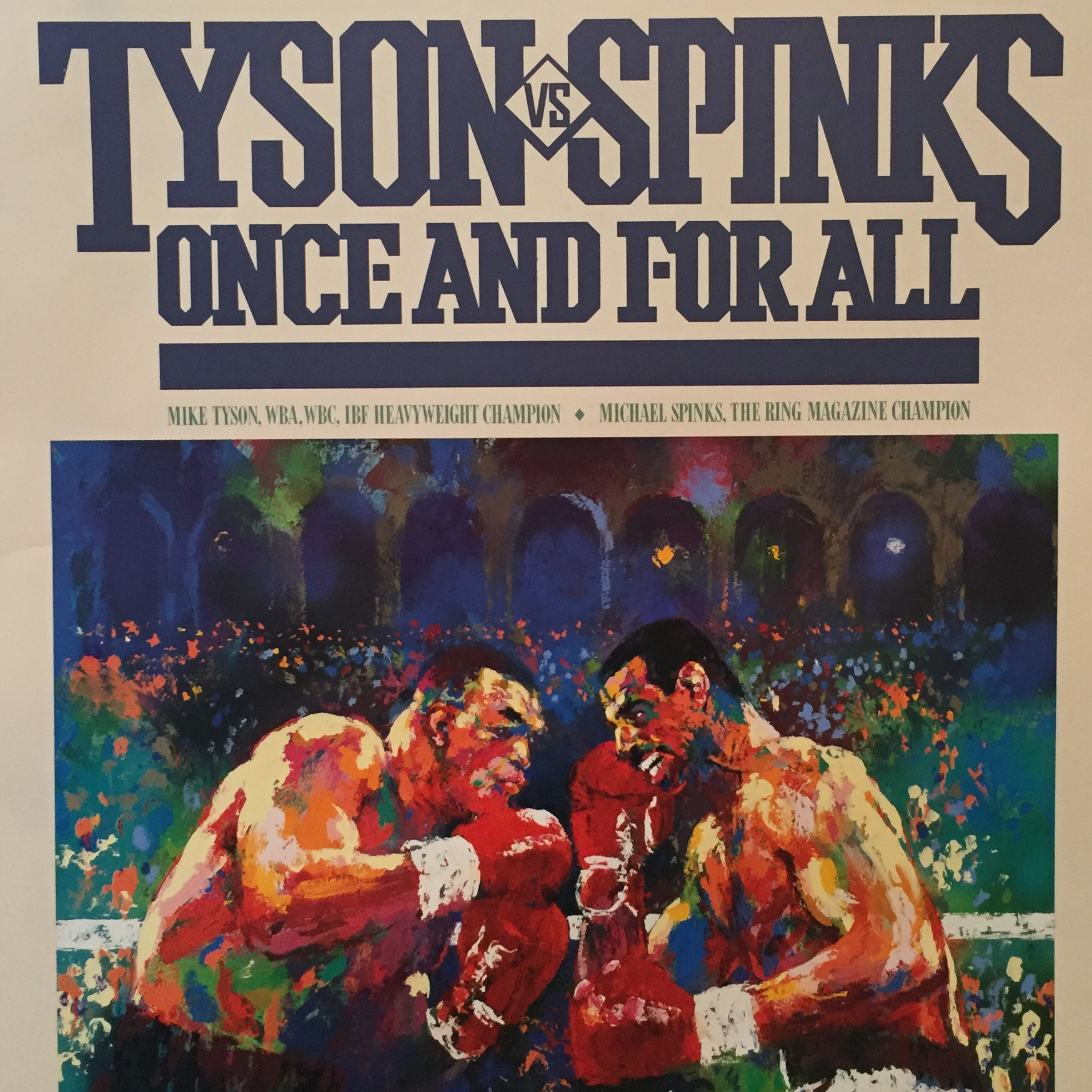 Tyson vs. Spinks Boxing poster