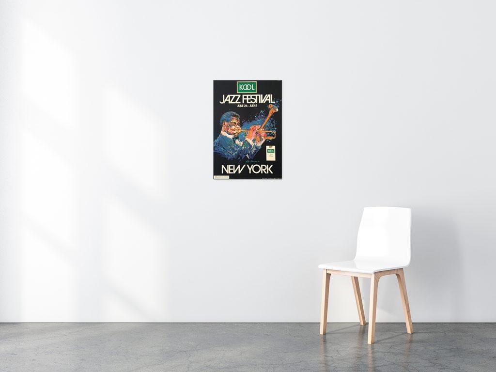 Kool Jazz Festival poster in situ