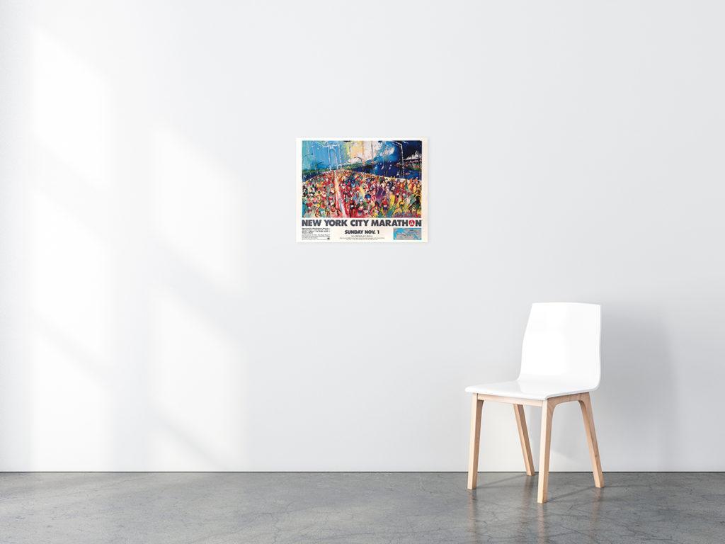 New York City Marathon poster in situ