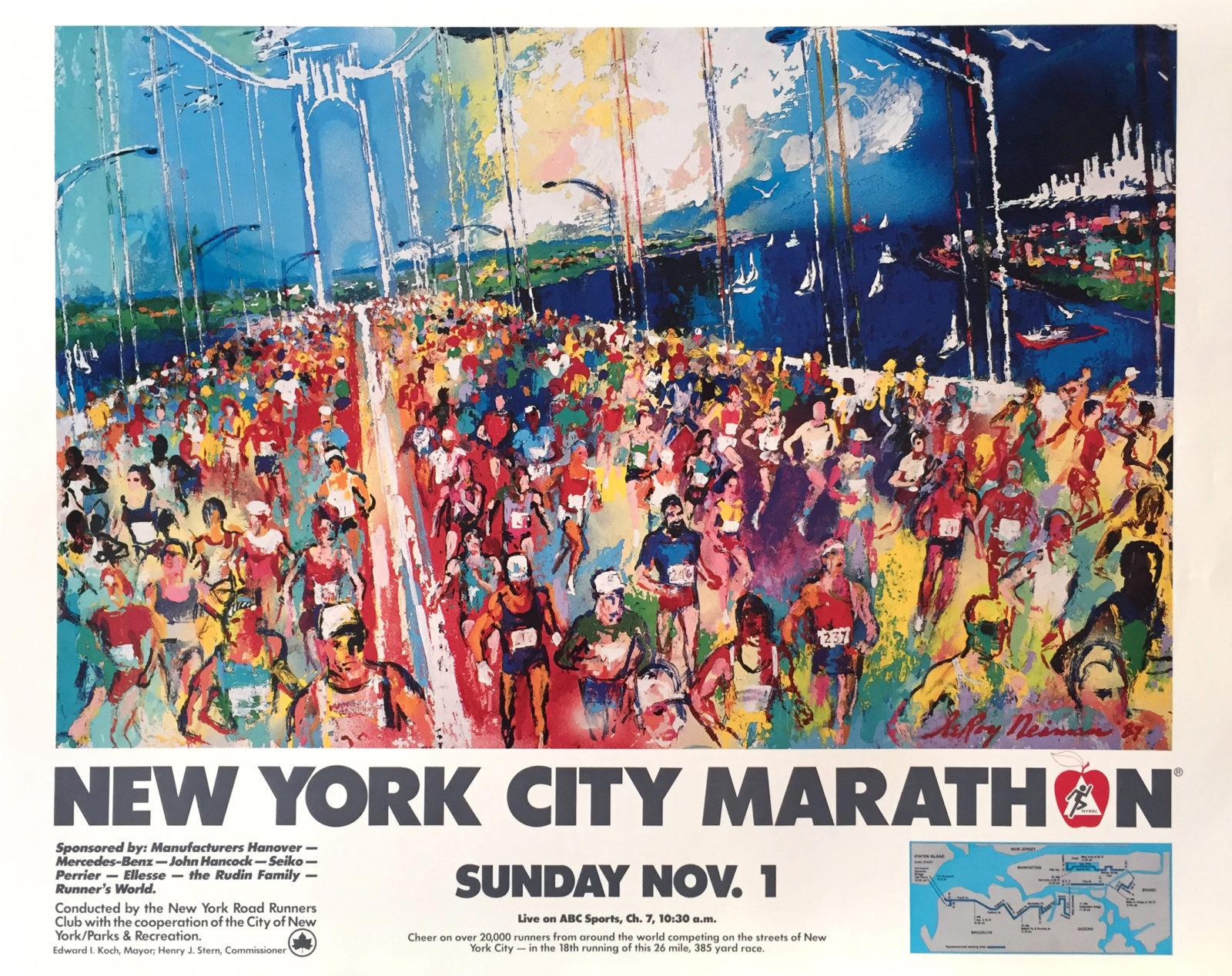New York City Marathon 1987 poster