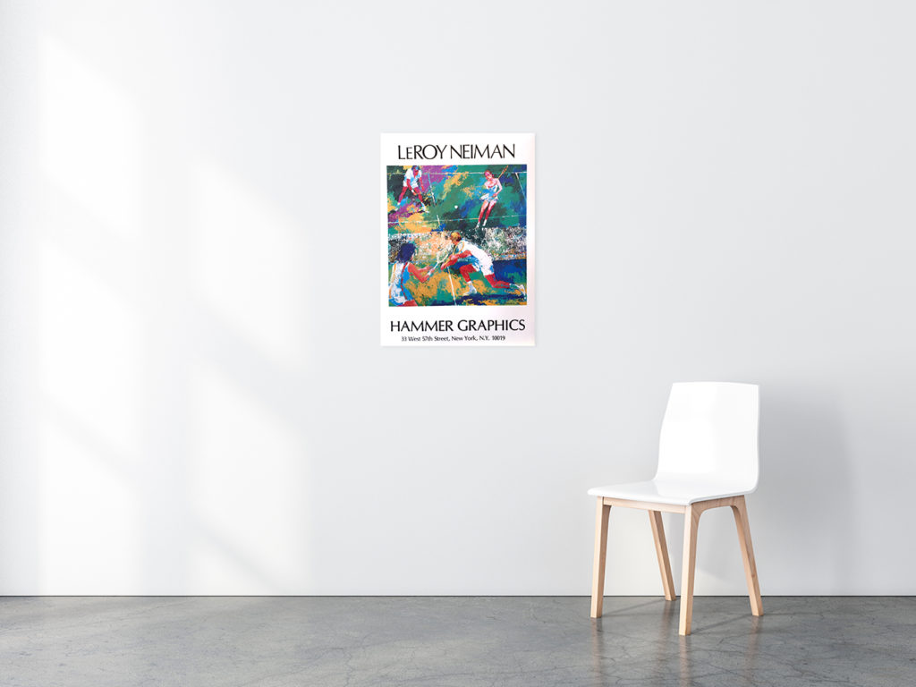 Mixed Doubles Tennis poster in situ