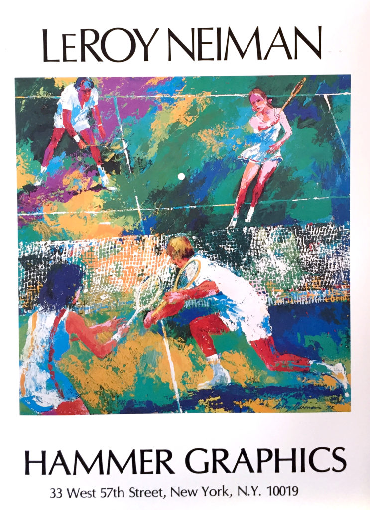 Mixed Doubles Tennis poster