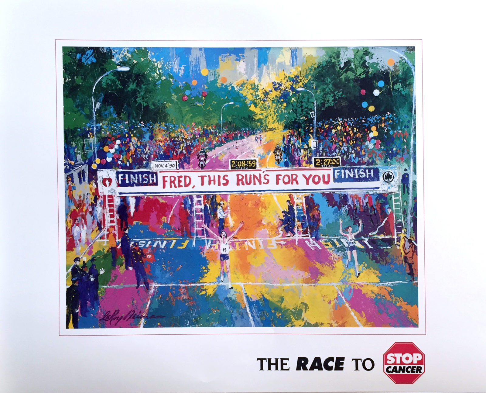 Fred, This Run's for You Marathon Race poster