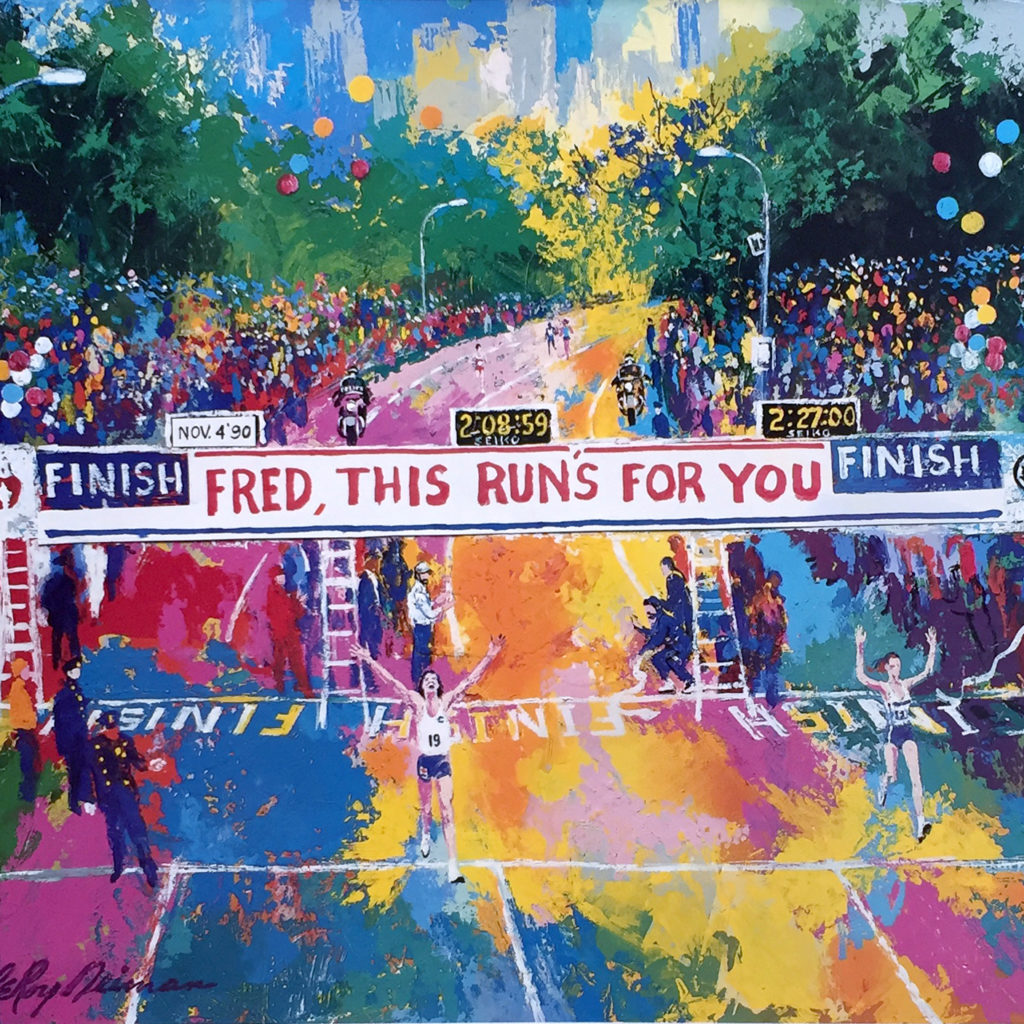Fred, This Run's for You Marathon Finish