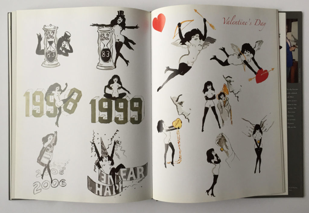 Artwork from, Playboy: LeRoy Neiman Femlin 50th Anniversary Collection book