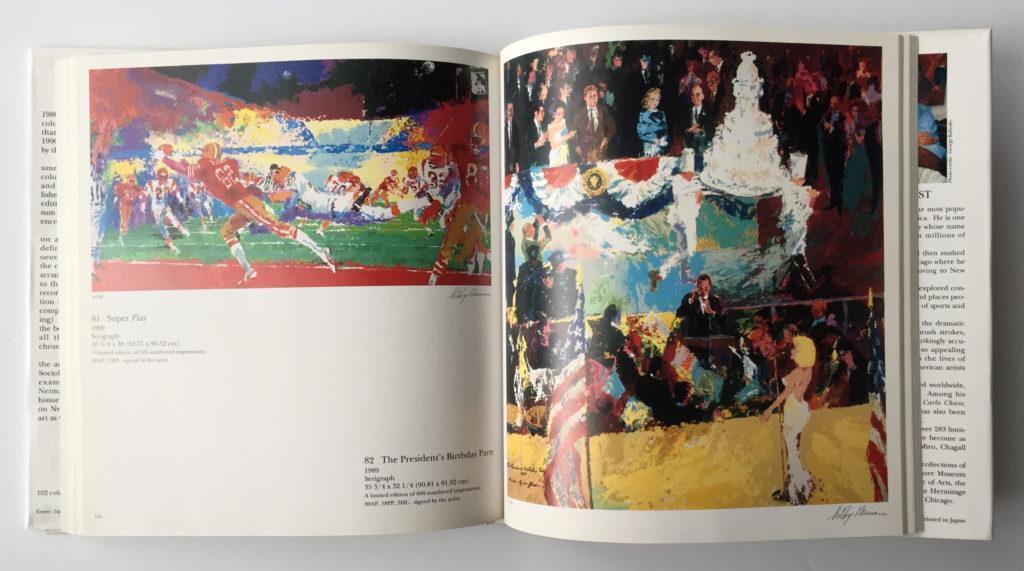 Artwork from, The Prints of LeRoy Neiman 1980 - 1990 book