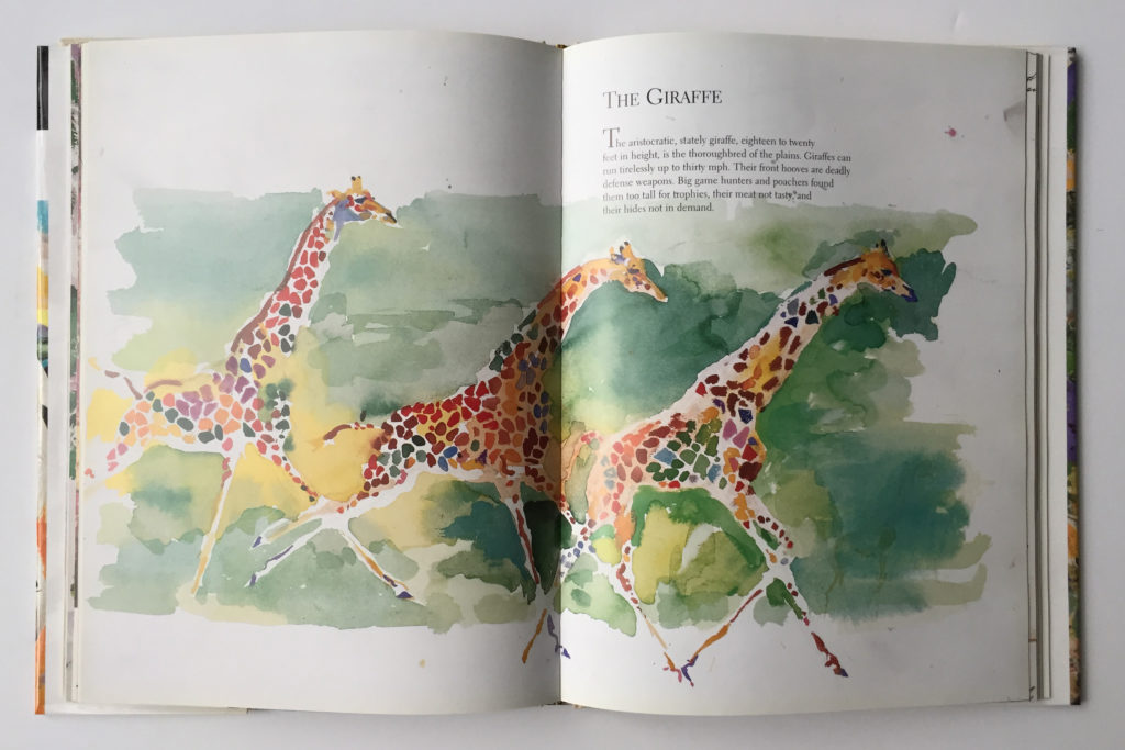Art work from, LeRoy Neiman on Safari book
