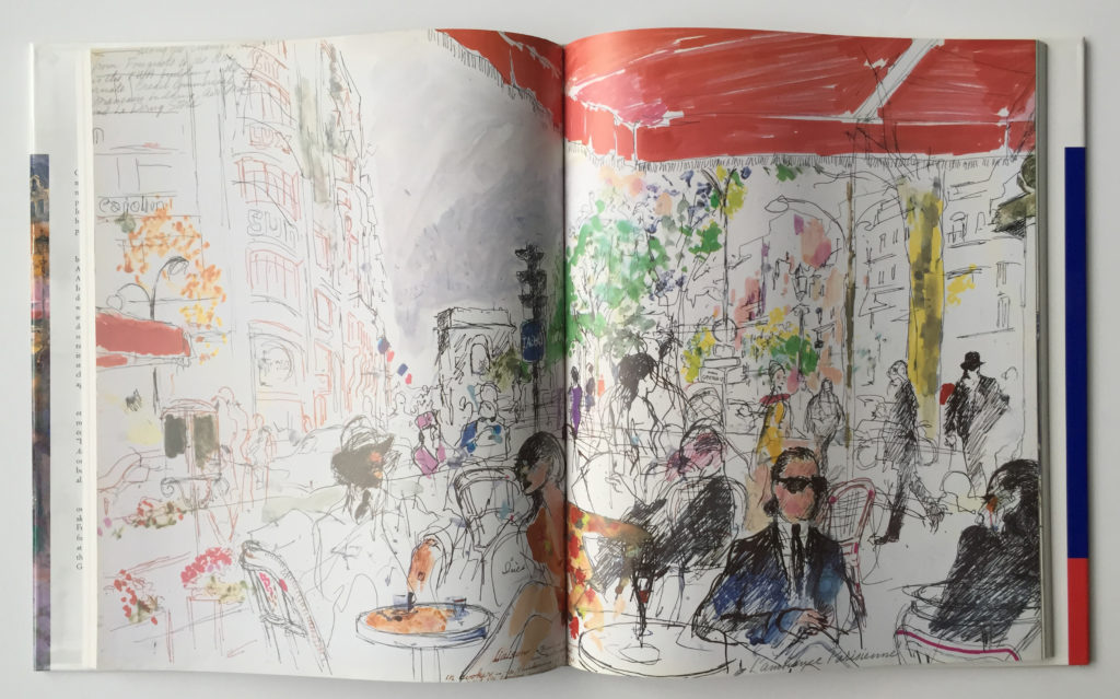 Drawing in, An American in Paris book
