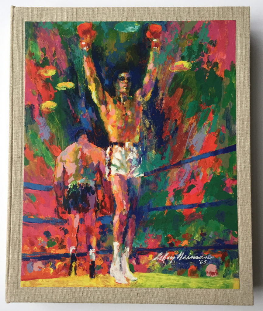 Cover of LeRoy Neiman Sketch book: 1964 Liston vs. Clay, 1965 Ali vs. Liston book